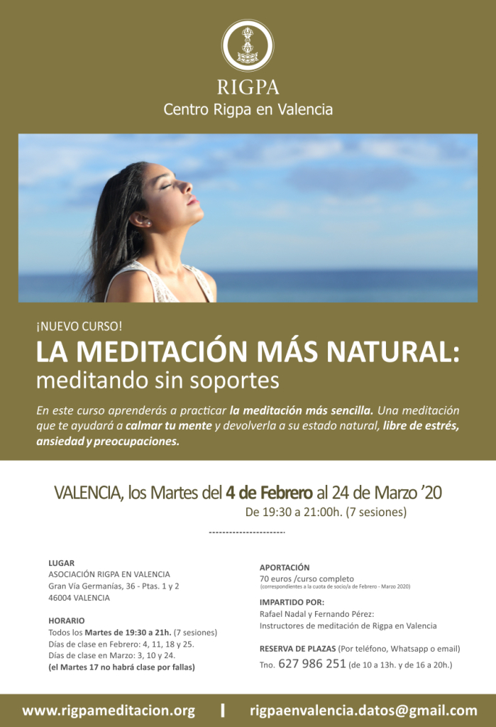Cartel La meditacion mas natural WEB